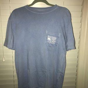 Southern Fried Cotton - light blue dog shirt